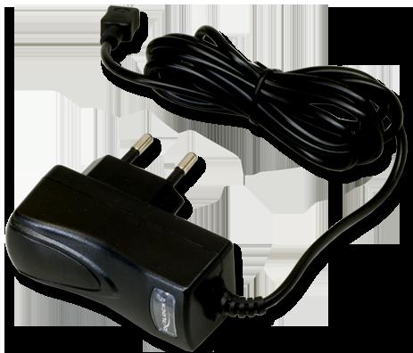 Mit diesem kompakten Ladegerät laden Sie den Mini-Keeper auf.